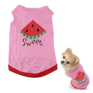 Howstar Pet Shirt Printed Puppy Shirt Dog Clothes Soft Vest for Summer Pet Apparel