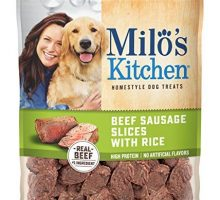 Milo'S Kitchen Beef Sausage Slices With Rice Dog Treats 18 Ounce