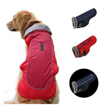 SCPET Dog Winter Coat Cozy Waterproof Windproof Vest Winter Coat Warm Dog Apparel Cold Weather Dog Jacket XS3XL