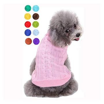 Small Dog Sweater Warm Pet Sweater Cute Knitted Classic Dog Sweaters for Small Dogs Girls Boys Cat Sweater Dog Sweatshirt Clothes Coat Apparel for Small Dog Puppy Kitten Cat