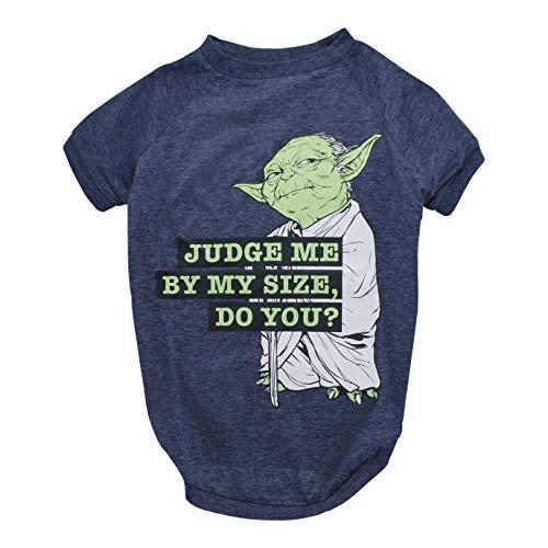 Star Wars for Pets Yoda Dog Tee | Star Wars Dog Shirt for All Size Dogs Gray FF11561