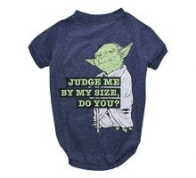 Star Wars for Pets Yoda Dog Tee | Star Wars Dog Shirt for All Size Dogs Gray FF11561