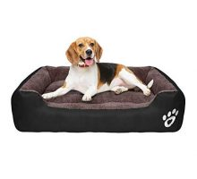 TR pet Large Dog Beds Pet Bed for Medium Big Extra Large Dogs Dog Bed Washable with Removable Cover Breathable Cotton Stuffing Waterproof Calming Pet Pillow BedBlack
