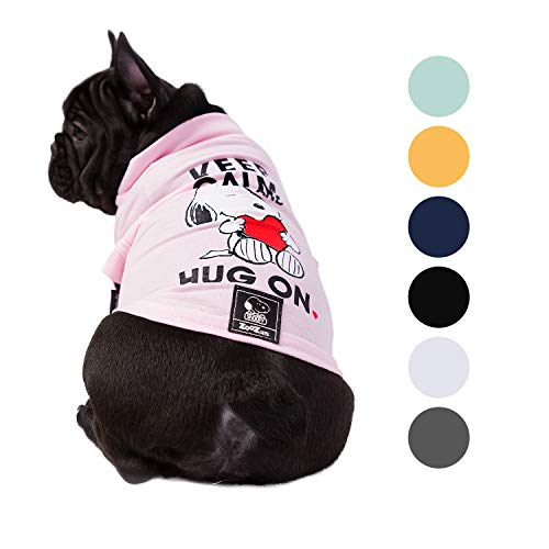 ZOOZ PETS Snoopy Dog Shirt Clothes  Official Peanuts Licensee Dog Shirts in 7 Different Colors and Styles  Pet Apparel Dog t Shirt for Puppy Small Medium and Large Dogs