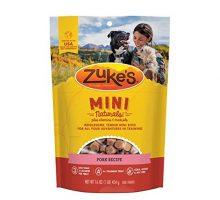 Zuke Natural Training Dog Treats; Mini Naturals Recipe; Made in USA Facilities 16 oz Pork Recipe