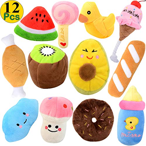 Legendog Dog Squeaky Toys 12Pack Dog Toys Squeaky Small Dog Toys Squeaky Puppy Chew Toys Plush Dog Toy for Small Dogs with Squeakers for Small Medium Dogs