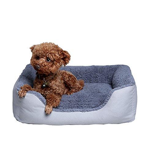 Petwe Pet Bed Soft Plush Orthopedic Dog Bed Reversible
