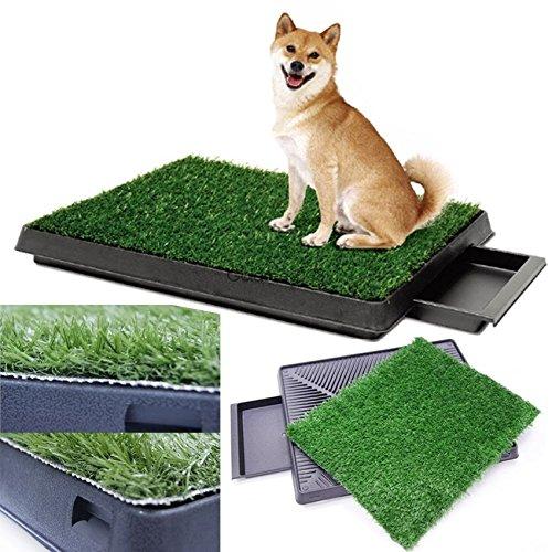 Indoor Puppy Dog Pet House Potty Training Pee Pad Mat Tray Grass Toilet