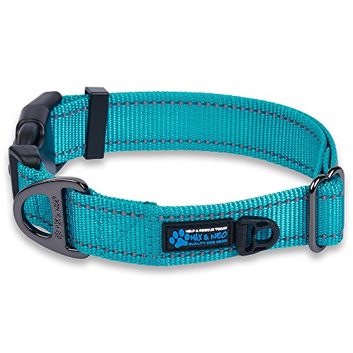 Max and Neo trade; NEO Nylon Buckle Reflective Dog Collar  We Donate a Collar to a Dog Rescue for Every Collar Sold