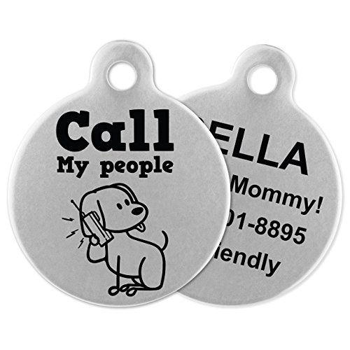 If It Barks Engraved Pet ID Tags For Dogs  Personalized Pet ID Name Tag Attachment  Made in USA Stainless Steel Dog Tags