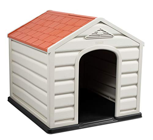 Internet's Best Outdoor Dog House | Comfortable Cool Shelter | Great for Small Dogs | Durable Plastic Design | Home Kennel | Indoor or Outdoor Use | Small