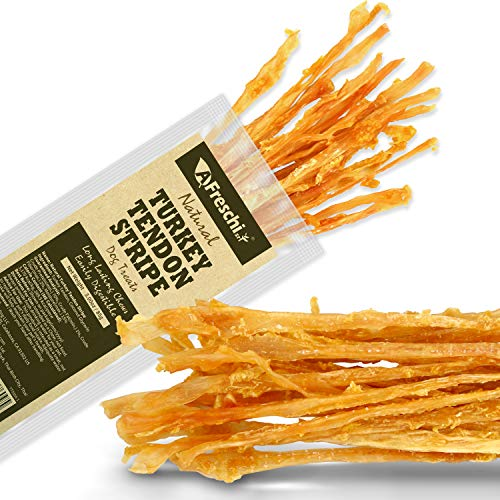AFreschi Turkey Tendon Twists for Dogs Premium AllNatural Hypoallergenic Dog Chew Treat Easy to Digest Alternative to Rawhide Ingredient Sourced from USA Pack of 3 oz