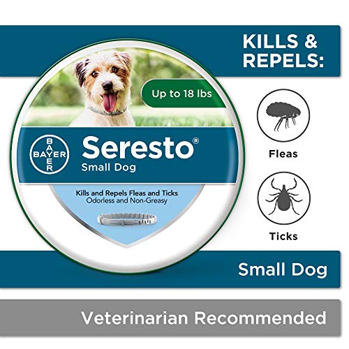 Seresto flea collar for dogs 8month flea and tick prevention for dogs up to 18 lbs