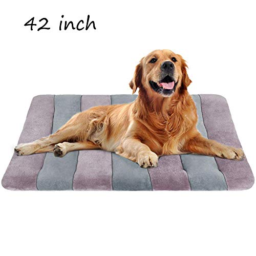 Dog Bed Large Crate Mat 42 in AntiSlip Washable Soft Mattress Kennel Pads