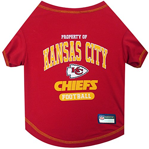 NFL KANSAS CITY CHIEFS Dog TShirt Small  Cutest Pet Tee Shirt for the real sporty pup